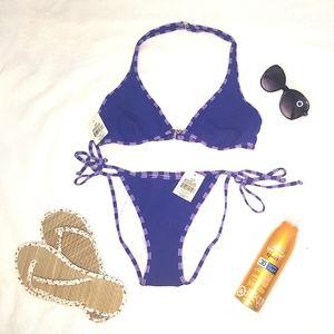 Sparkly purple tie-up bikini BNWT